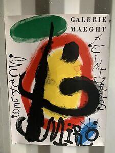 Joan Miro Lithograph Miro Poster