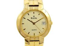 Vintage Bulova Classic Quartz Gold Plated Midsize Dress Watch 904