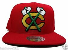 Chicago Blackhawks Mitchell & Ness Alternate Red Solid Wool Snapback Hat Cap NHL