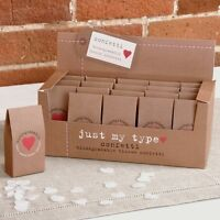 WEDDING CONFETTI Throwing Biodegradable JUST MY TYPE Ivory Heart Choose Quantity