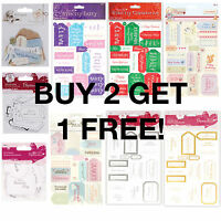 Papermania Die-Cut Greetings Card Messages Assorted Occasion Sentiments Toppers