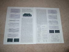 McIntosh MA 5100 Amplifier Review, 2 pgs, 1966, Specs