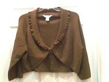 Women's Uniform Woman John Paul Richard Plus Size 2X Green Sweater Shrug
