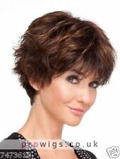 100% Real hair! Fashion wig New Women's Short Brown Straight Human Hair Wigs