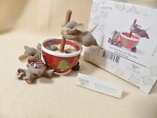 Charming Tails Mouse Figurine You Add Fun to the Mix 97/46 Novelty Mouse Winter