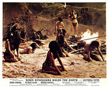 When Dinosuars Ruled The Earth original lobby card Imogen Hassall camp fire