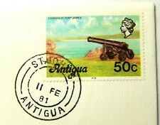 """1981 Antigua 50 Cent Stamp - Cancelled 11 Feb 1981 """"Mint Condition""""  SB6173"""