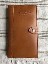 CUTTER & BUCK LEGACY COLLECTION GENUINE LEATHER UNISEX PASSPORT WALLET CASE NEW