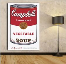 Andy Warhol Campbells Soup can Tomato pop art canvas print painting Abstract vin
