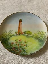 Handpainted plate Jupiter lighthouse Florida (Q)