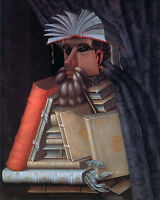 Surreal Man Made Of Books Dream Library Painting Real Canvas Giclee Art Print