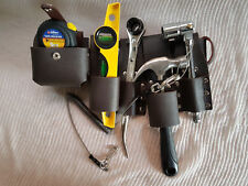 Scaffolding BROWN Leather Tool Belt + Heavy Duty Full TOOLSET + Safety Lanyard