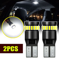 2x White T10 24SMD LED CANBUS Car Interior Dome Map Trunk Lamp Bulbs Side Light