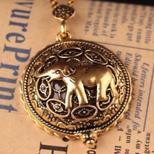 Creative Fashion Hollow Long Chain Elephant Necklace Jewelry Magnifying Glass