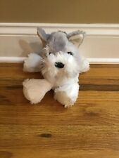 Fiesta Plush Shnauzer Dog- Gray And White, In Good Used Condition