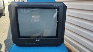 "Vintage RCA Truflat SDTV 14F514T 14"" Television CRT TV Retro Gaming NO remote"
