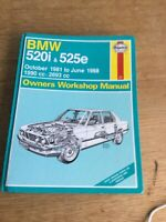 Haynes Service and Repair Manual 1560 BMW 520i & 525e 1981 to 88
