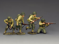 """KING & COUNTRY DD321 WWII U.S. ARMY RANGERS """"HITTING THE BEACH"""" SET 1 D-DAY MIB!"""