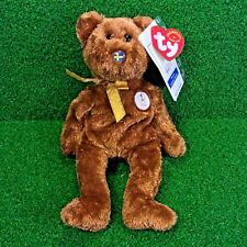 Rare Ty Beanie Baby Champion The Bear 2002 FIFA World Cup Soccer Team - Sweden