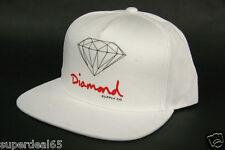 Diamond Supply Co. Baseball Cap OG Logo Snapback White 100% Cotton Diamond