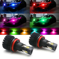 Smart Phone Control Wireless Multi-color RGB H8 H11 LED Bulbs For Fog DRL Lights