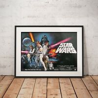 Star Wars IV A New Hope 1977 Landscape - A3 A4 - FREE Shipping - ZBM