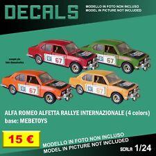 DECALS repro Alfa Romeo Alfetta Rallye Internazionale Mebetoys Leo 1/25 1 25 24