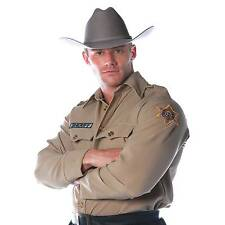 Mens Sheriff Police Uniform Shirt Costume Dress Ur29011