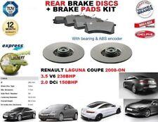 für Renault Laguna Coupe 3.5 V6 2.0 dCi Bremsscheiben SET HINTEN+Bremsbelagsatz