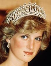 Wedding Bridal Crystal Pearl Silver Headband Crown Diana Tiara Hair Accessories