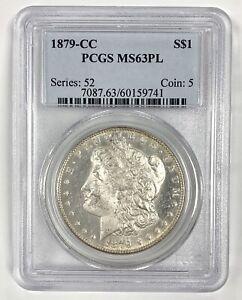 1879 CC Carson City United States $1 Silver Morgan Dollar PCGS MS63 PL