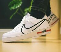 Nike Air Force 1 React D/MS/X - White / Red / Black - Sizes 5-14UK CD4366-100