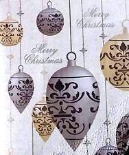 2x Merry Christmas Shabby chic paper napkins decoupage craft arts scalloped edge