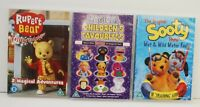 RUPERT BEAR  - SOOTY - FIREMAN SAM x 3 DVD BUNDLE - HOURS OF TV FUN