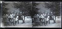 Francia Famille Foto c1930 Negativo Placca Da Lente Vintage Stereo VR16L12n11