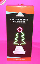 New USB NEON LIGHT CHRISTMAS TREE Indoor Night Table Funderdome Desktop Décor