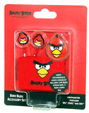 Angry Birds Red Bird Ear Buds - For Nintendo DSI - DSIXL - 3DS - Incs Carry Bag