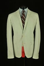 HUGO By Hugo Boss Red Label Cotton & Silk White & Blue Check Sport Jacket 40R