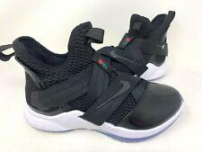NEW! Nike Men's Lebron Soldier 12 Athletic Shoes Black/White #AO4054-005 148P tz