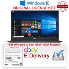 Windows 10 Authentique pro professionnel produit original Clé de licence 32/64 Bit