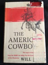 Will James The American Cowboy 1st edition 1942  Hardback Dustjacket ex library