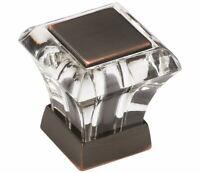 Amerock Abernathy BP29460CORB Acrylic Oil Rubbed Bronze Cabinet Knob