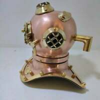 US NAVY Handmade Brass & Copper Antique Mini Diving Helmet Perfectly Crafted