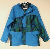 THE NORTH FACE Boys XL/TG (18/20) HYVENT Hooded Blue Parka Ski Jacket Shell