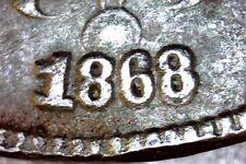 1868 Shield Nickel Rare Double Date Error - Damaged