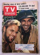 TV Guide June 15-21 1963 Combat Vic Morrow Jerry Lewis Vintage ads