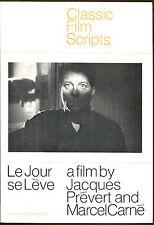 Le Jour se Leve-A Film by Jacques Prevert & Marcel Carne-Classic Film Script