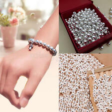 Genuine 925 Sterling-Silver Round Ball Beads for Jewelry Making Findings 2MM