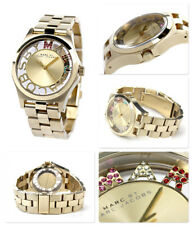 NEW MARC JACOBS HENRY GOLD,PINK,RED,GREEN,GLITZ DIAL,BRACELET WATCH MBM3263