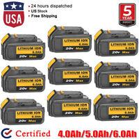 New DCB206 For DeWalt 20V 20 Volt Max 6.0Ah Lithium Battery DCB200 DCB205 DCB204